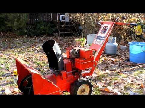 an old gilson snow blower repair