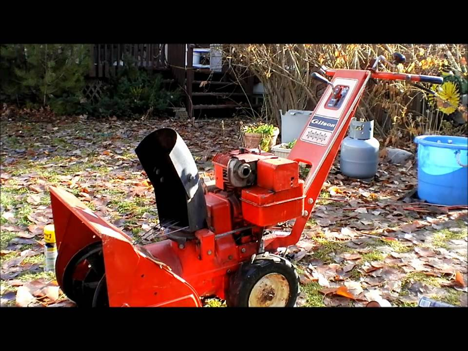 an old gilson snow blower repair - YouTube