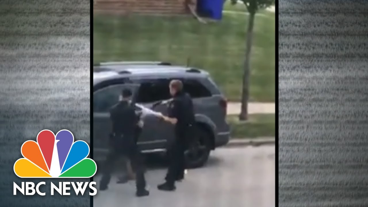 Video Shows Wisconsin Police Shooting Black Man In Back   NBC Nightly News