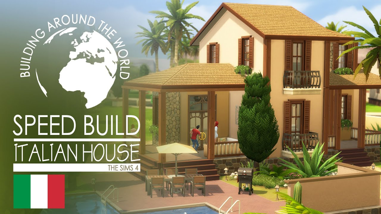 The Sims 4 Speed Build Italian House Around The World Youtube