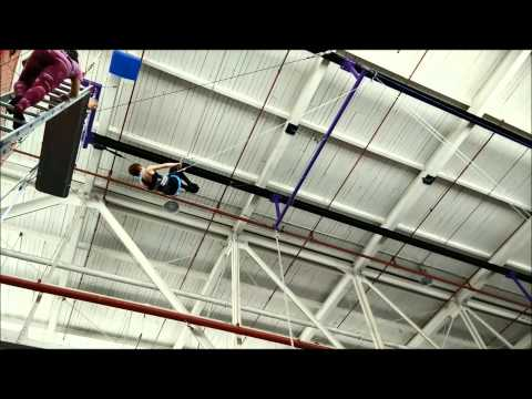 Flying trapeze for the first time at Toronto School of Circus Arts