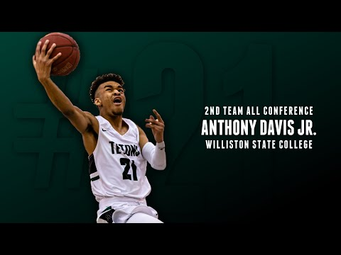 Anthony Davis Jr - Williston State College - First Half Highlights 2018-2019