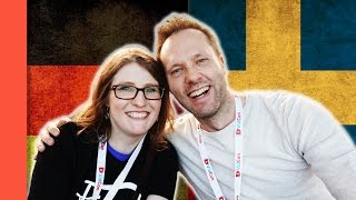 Language Challenge - Swedish VS German #2 Vidcon Europe 2017