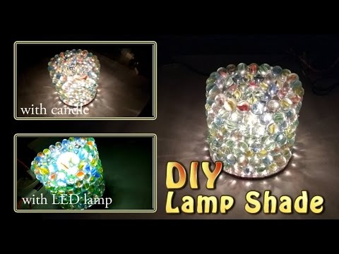 DIY Lamp Shade - with Glass Marbles