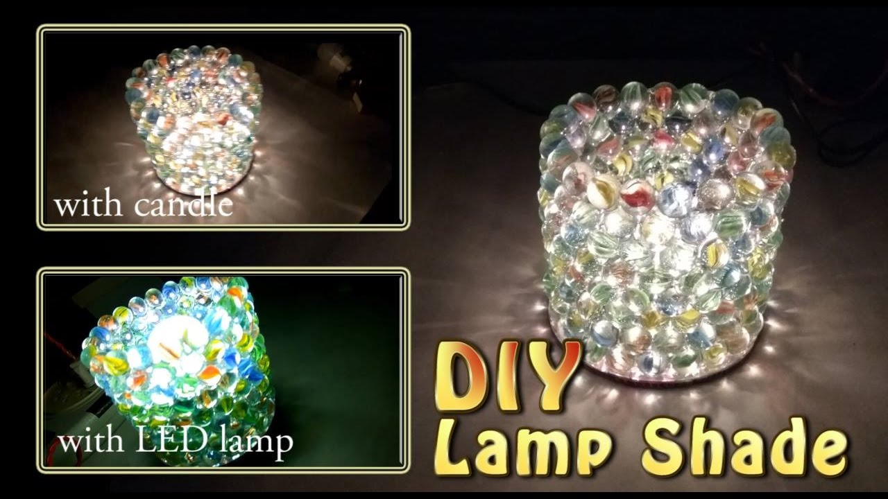 DIY Lamp Shade  with Glass Marbles  YouTube