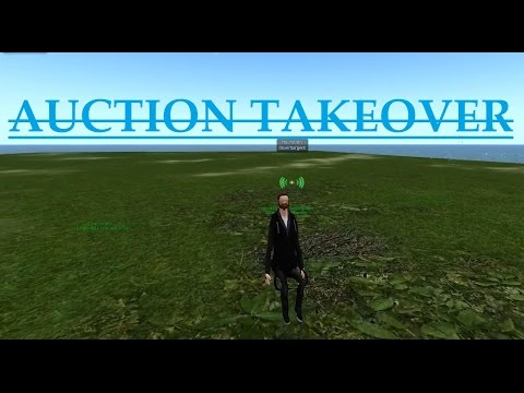 "Second Life: Ted Life ""Auction Takeover"" (Trolling)"