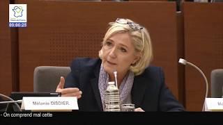 Denis Vinckier (LR) se scandalise des propositions du RN, Marine Le Pen le remet à sa place