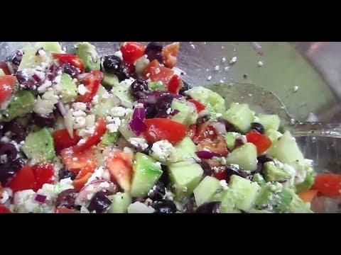 Authentic Greek Vegetarian Salad (with Vegan options)