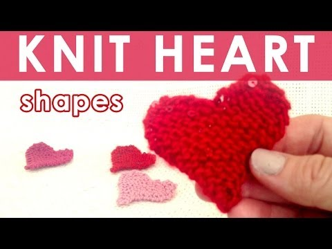 How to Knit a HEART | Easy for Beginning Knitters