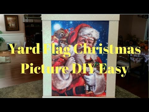 Yard Flag Christmas Picture DIY   How To Turn A Yard Flag Into A Picture
