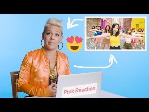 PINK REACTS TO TWICE & TAEMIN ★ بينك معجبة بتوايس وتيمين