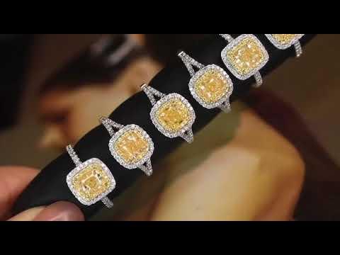 主石過1克拉的天然黃彩鑽,FANCY YELLOW 、VS, 18K金真鑽戒。附AGL大證書。「代理價,不議不退。」