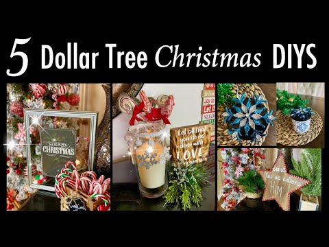 5 Easy Dollar Tree Christmas DIYS