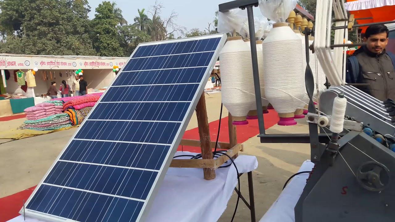 Solar spinning (Charkha) machine