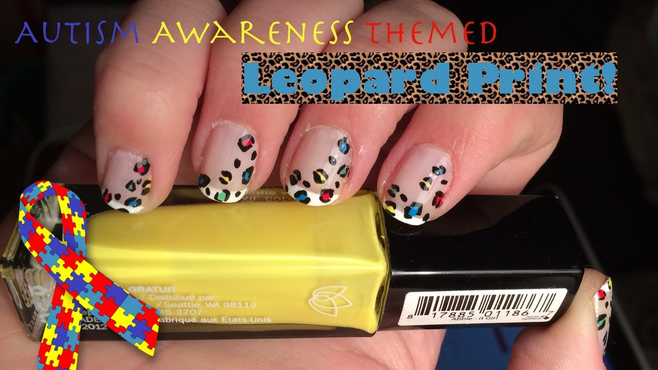 Autism awareness leopard print nail art tutorial inspired by autism awareness leopard print nail art tutorial inspired by cutepolish prinsesfo Images