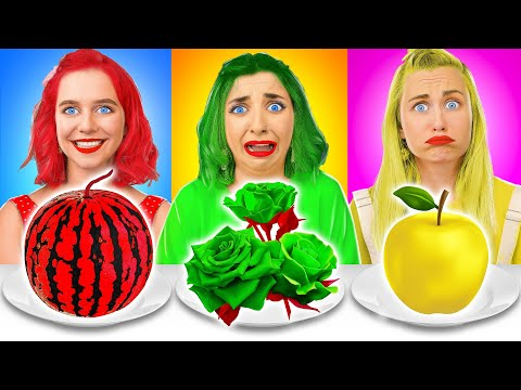 EATING ONLY ONE COLORED FOOD FOR 24 HOURS CHALLENGE by Multi DO