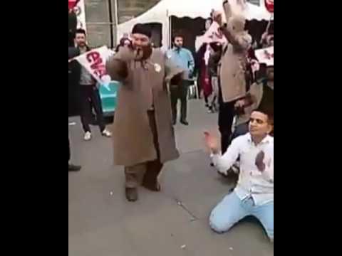 AKP mitingi sırasında hacı dansı