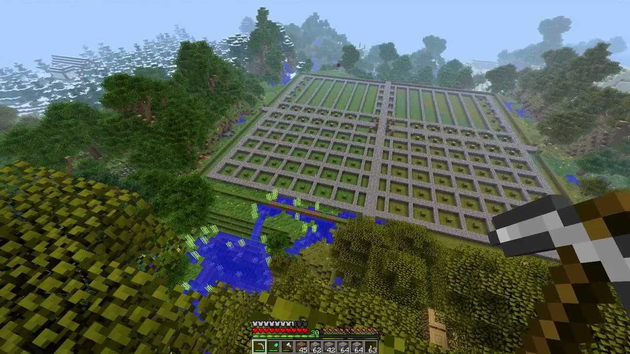 Minecraft How To Make An Awesome Tree Farm And House Part 2