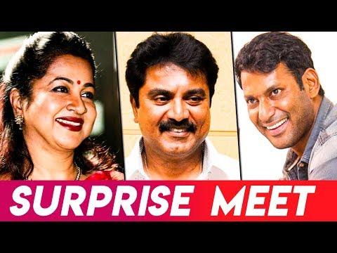 Why Vishal Met Radhika I Sarathkumar, Radharavi, Nadigar Sangam Elections I Hot Cinema News