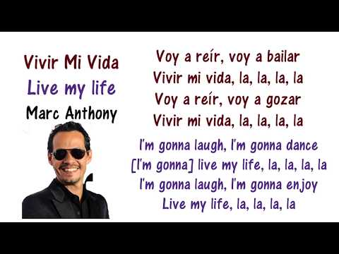 Marc Anthony  Vivir Mi Vida Lyrics English and Spanish  Translation & Meaning  Letras en ingles