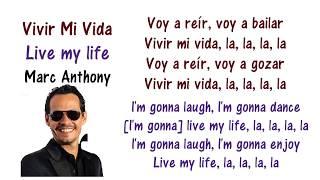 Marc Anthony - Vivir Mi Vida Lyrics English and Spanish - Translation & Meaning - Letras en ingles