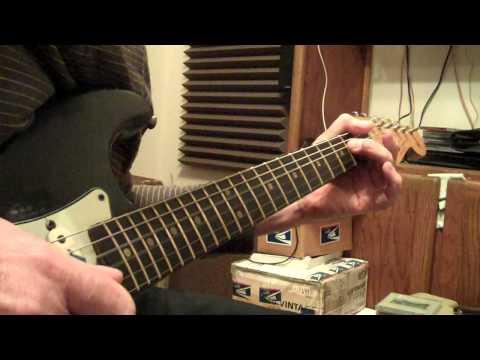 Jimi Hendrix Catfish Blues Jam On A 1960 Tweed Bassman / '64 Vibroverb Amp Combo