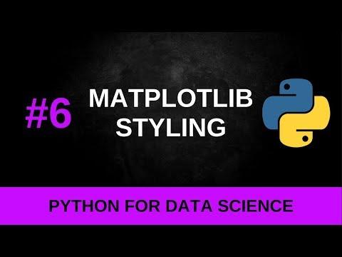 Python Data Science Tutorial #6 - Matplotlib Styling thumbnail