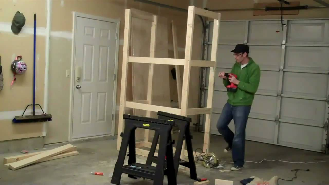 How to Build a Garage Cabinet in Under 2 Minutes - YouTube