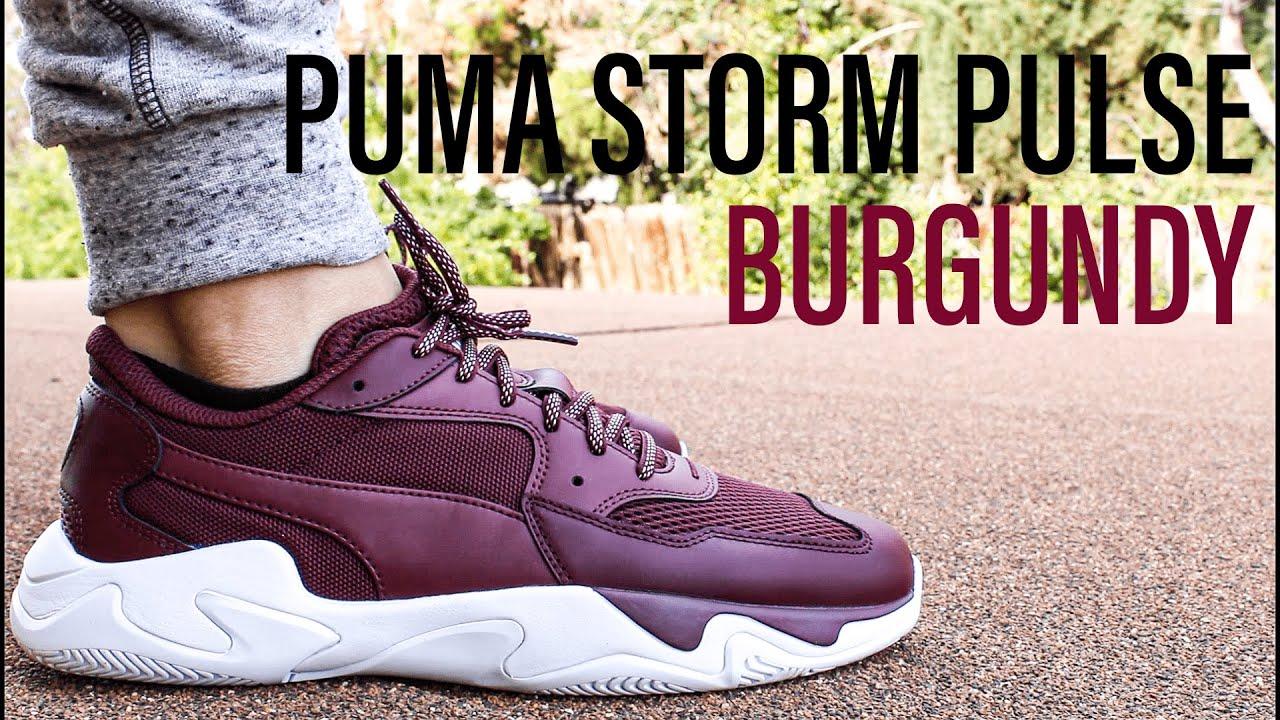 Puma Storm Pulse BURGUNDY On-feet + Unboxing
