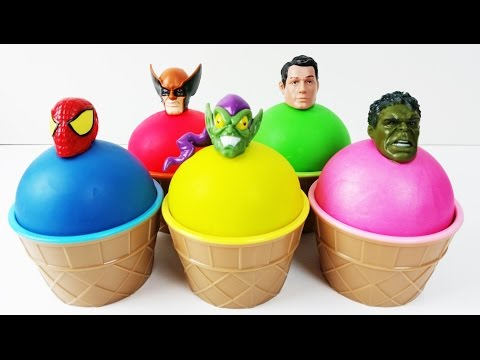 Thumbnail: Learn Colors Play Doh Superhero Ice Cream Surprise Toys Peppa Pig Finger Family Nursery Rhymes Kids