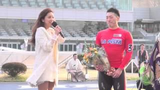 【日本選手権競輪】念願のGIタイトル奪取の新田を中村アンが祝福