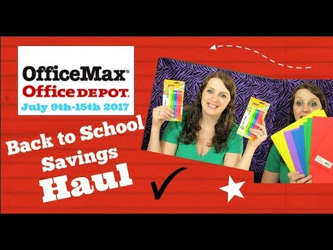 Back To School Savings Haul Office Max/Office Depot July 9Th