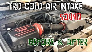 (3 of 3) TRD Cold Air Intake (CAI) Sound. BEFORE & AFTER. 2017 4Runner TRD PRO Cement.