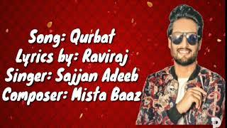 sajjan-adeeb---qurbat-full-song-mista-baaz-raviraj