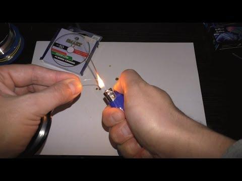 Как отличить флюрокарбон от обычной лески видео