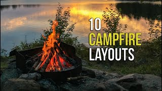 10 Campfire Layouts t๐ INSTANTLY up your Camping Skills!!