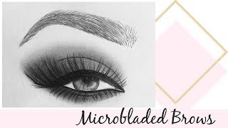 Microbladed Eyebrows update - before and after