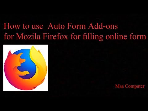 Auto Form for mozilla firefox