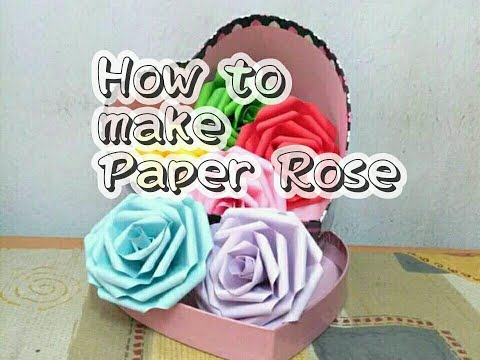 Creative  DIY Paper Rose - gift for friends