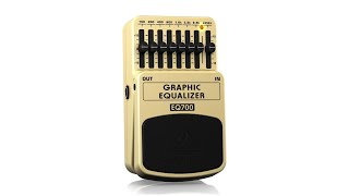 GRAPHIC EQUALIZER EQ700 Ultimate 7-Band Graphic Equalizer