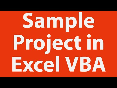 A Sample Project Using Excel Vba