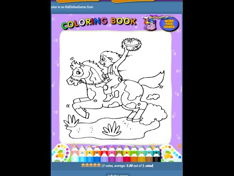 Rodeo Coloring Pages For Kids - Rodeo Coloring Pages - YouTube