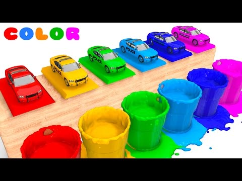 Thumbnail: LEARN COLORS with POLICE CARS for Babies - Learning Educational Video - Bus Superheroes for Kids