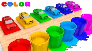 LEARN COLORS with POLICE CARS for Babies - Learning Educational Video - Bus Superheroes for Kids