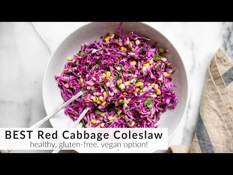 The BEST Red Cabbage Coleslaw Recipe
