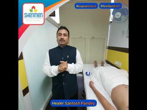 Healer Santosh Pandey demonstrating Acupuncture & Moxibustion live from Shenmen Healing (Mumbai)