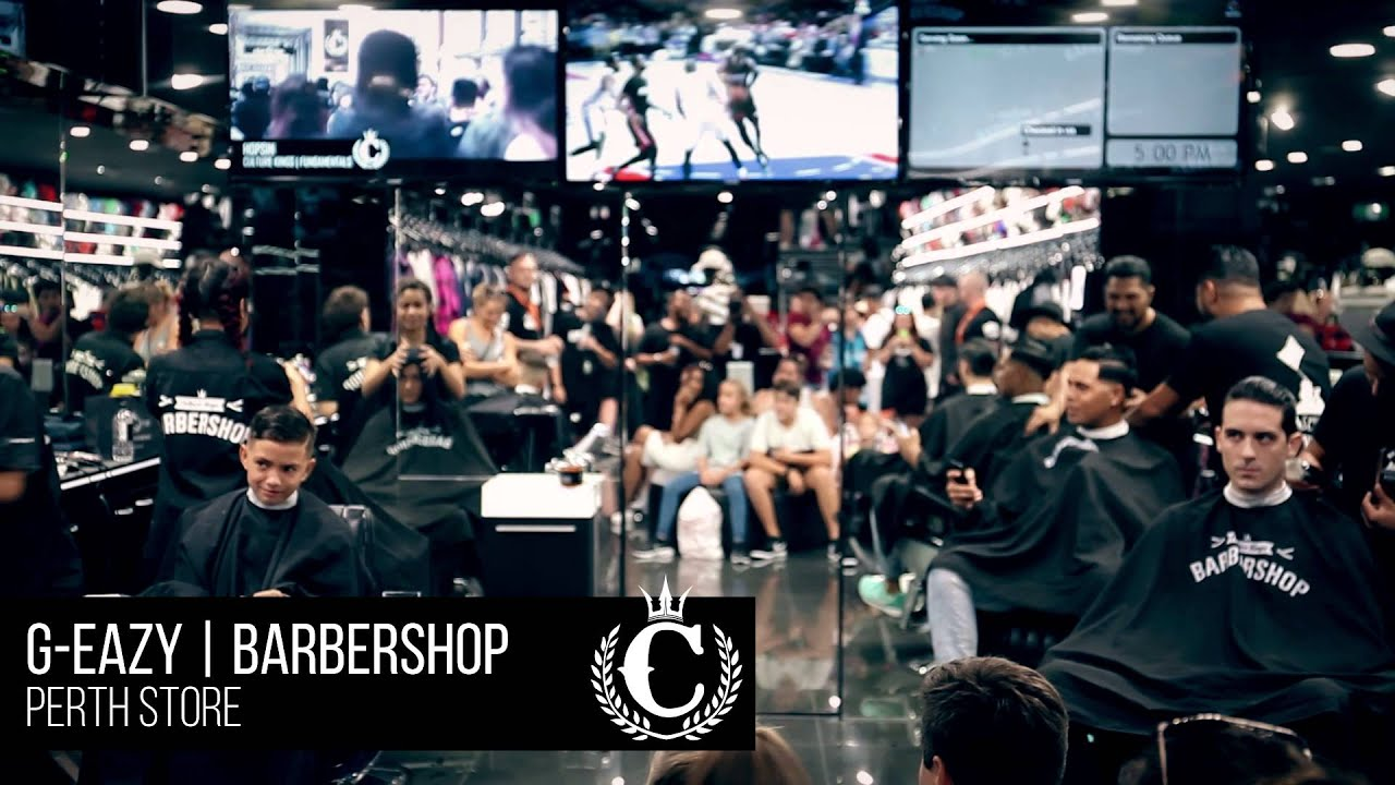 e755824c14ef G-Eazy Gets A Haircut at Culture Kings Perth - YouTube