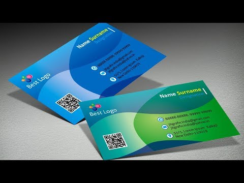 Adobe InDesign Learn | How to design a Professional Business Card ~ Modern Visiting Card Tutorial thumbnail