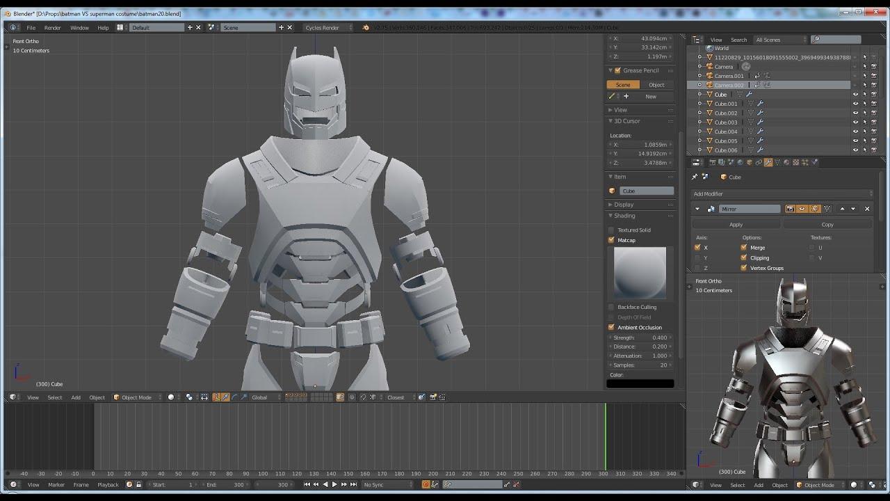Batman vs Superman: Dawn of Justice batsuit armor pepakura ...