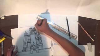 Drawing Disney Castle Timelapse